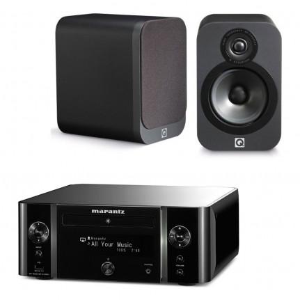 Marantz Marantz Melody Stream M-CR611 Noir - Mini-système stéréo réseau CD, Wi-Fi, Bluetooth, NFC, AirPlay, DLNA et USB