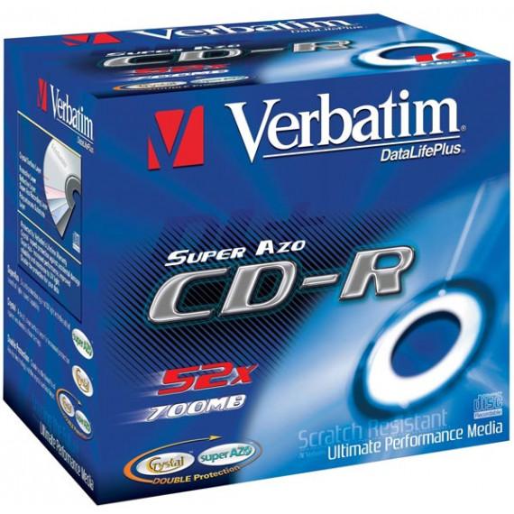 VERBATIM CD-R 700 Mo certifié 52x (pack de 10, boitier standard)