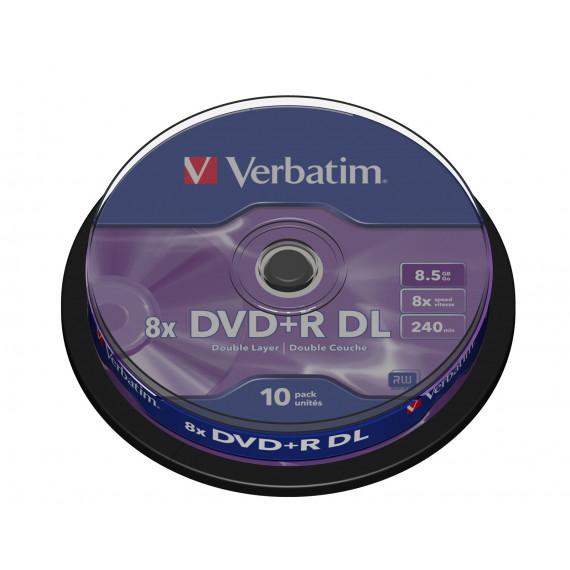 VERBATIM DVD+R DL 8.5 Go certifié 8x (pack de 10, spindle)