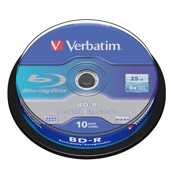 VERBATIM BD-R 25 Go certifié 6x (pack de 10, spindle)