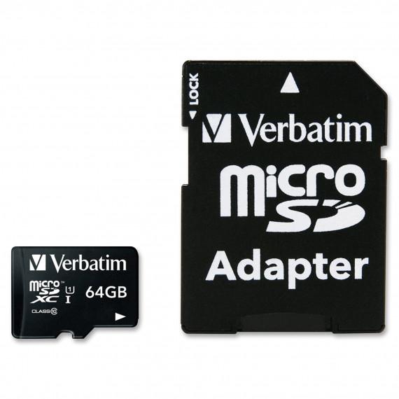 VERBATIM microSDXC 64 GB Class 10 UHS-1
