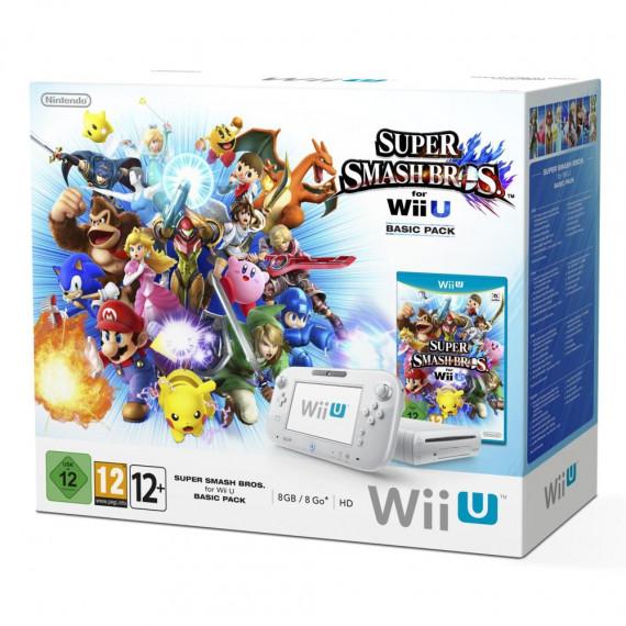 Nintendo Nintendo Wii U Basic Pack + Super Smash Bros - Console de jeux-vidéo avec mémoire interne 8 Go + jeu