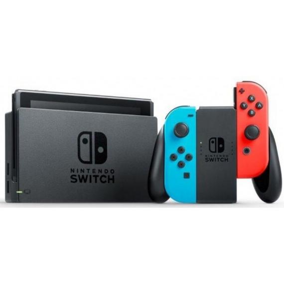 Nintendo Nintendo Switch + Joy-Con droit (Rouge) et gauche (Bleu) - Console de jeux-vidéo nouvelle génération avec capacité 32 Go + Manette