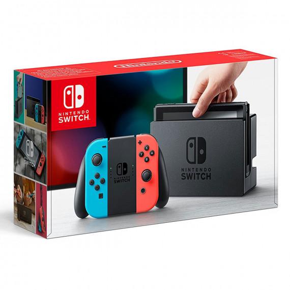Nintendo Nintendo Switch + Joy-Con droit (Rouge) et gauche (Bleu) + Splatoon 2 - Console de jeux-vidéo nouvelle génération avec capacité 32 Go + Manette + Splatoon 2