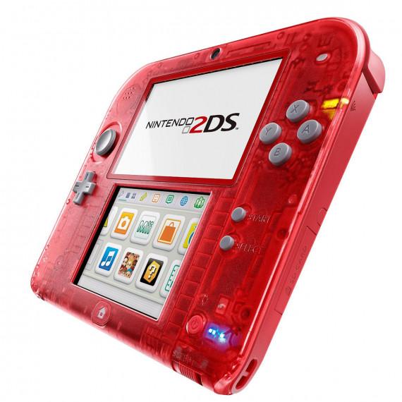 Nintendo 2DS (rouge transparent) - Console de jeux-vidéo portable tactile à deux écrans