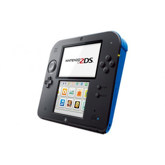 Nintendo Nintendo 2DS Noir / Bleu + Mario Kart 7 - Console Nintendo 2DS + carte mémoire SDHC 4 Go + Adaptateur secteur + Mario Kart 7