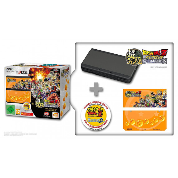 Nintendo Nintendo New 3DS (noire) + Dragon Ball Z : Extreme Butoden - Console de jeux-vidéo portable tactile 3D à deux écrans + Jeu Dragon Ball Z : Extreme Butoden préinstallé