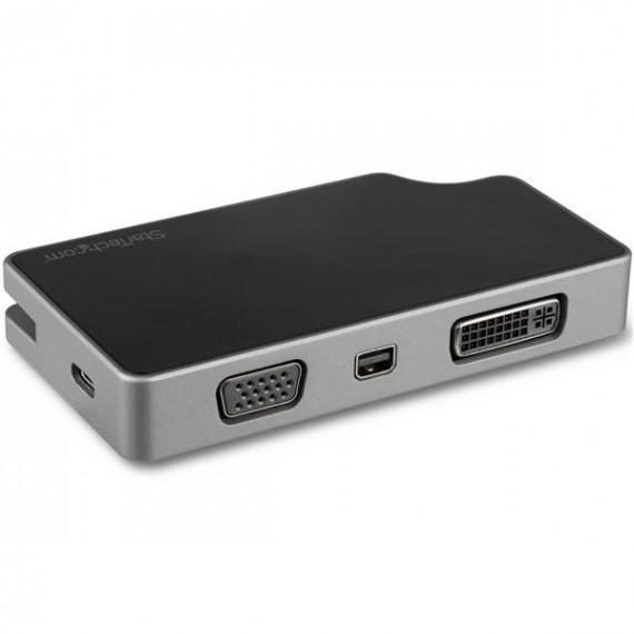 STARTECH Adaptateur de voyage USB-C vers VGA DVI HDMI ou mDP