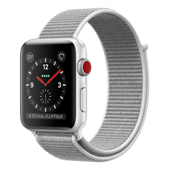 APPLE Watch Series 3 GPS + Cellular Aluminium Argent Sport Coquillage 42 mm