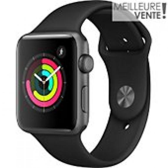APPLE Montre connectee  Apple watch serie 3 noire 42mm