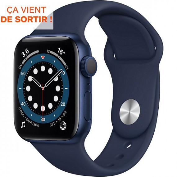 APPLE Montre connectée  Apple Watch Series 6 40mm Bleue