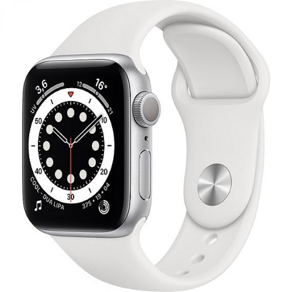 APPLE Montre connectée  Apple Watch Series 6 44mm Argent/Blanc