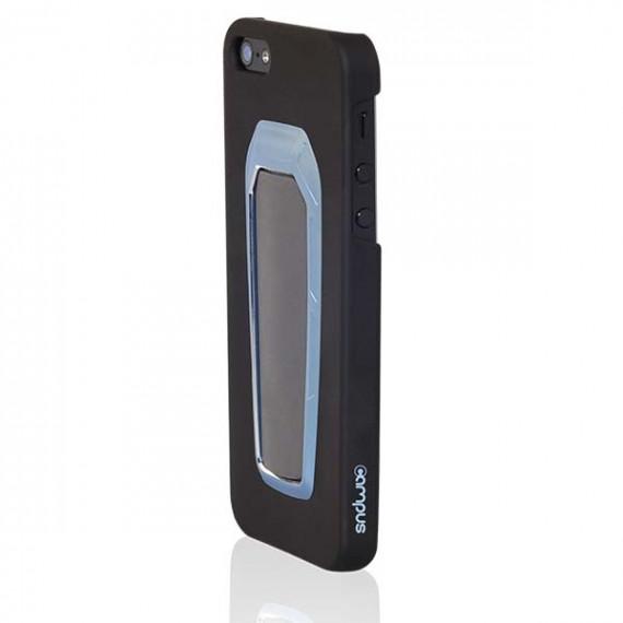 CAMPUS Coque pour iPhone 5  CAMPUS StandShield avec Stand Noir / Clip Bleu + Film
