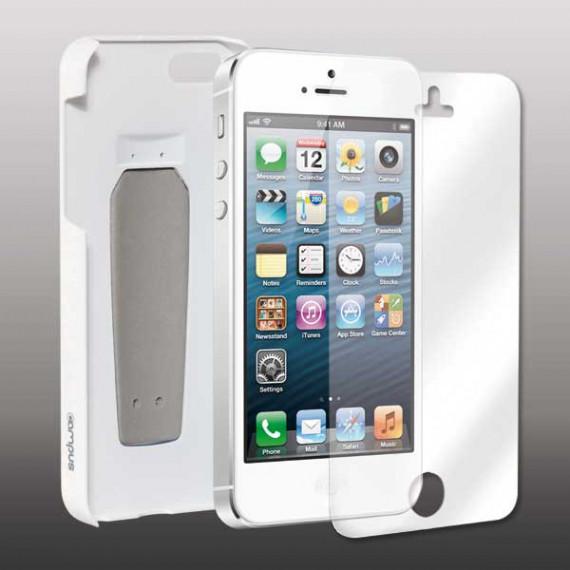 CAMPUS Coque pour iPhone 5  StandShield avec Stand Blanc / Clip Bleu  + Film