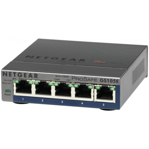NETGEAR Switch ethernet  GS105E Metal 5 Ports Gbps +Interface web