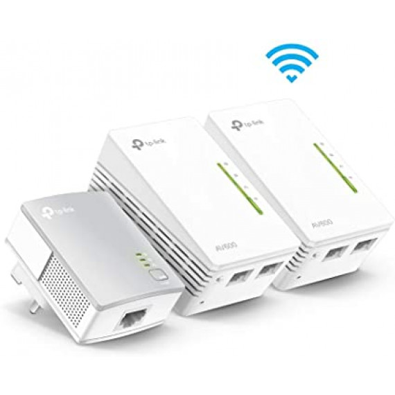 TPLINK TP-Link TL-WPA4220KIT AV500 2-Port Wifi Powerline Adapter Starter Kit
