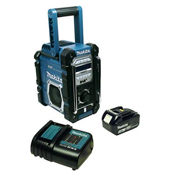 Makita DMR112+BL1830B+DC18RC Radio de Chantier avec Dab + et Bluetooth + Batterie 3 Ah et Chargeur