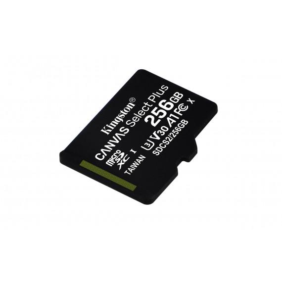 KINGSTON 256GB micSDXC Canvas Select Plus 100R A1 C10 Card + ADP