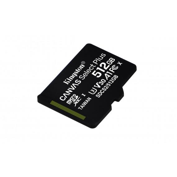KINGSTON 512GB micSDXC Canvas Select Plus 100R A1 C10 Card + ADP