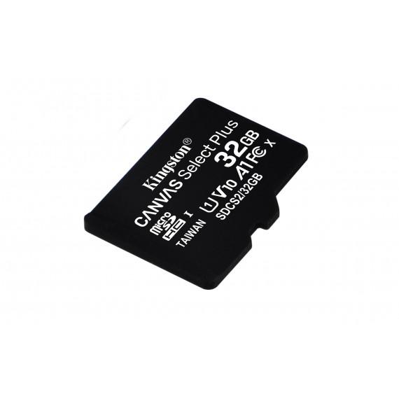 KINGSTON 32GB micSDHC Canvas Select Plus 100R A1 C10 Single Pack w/o ADP