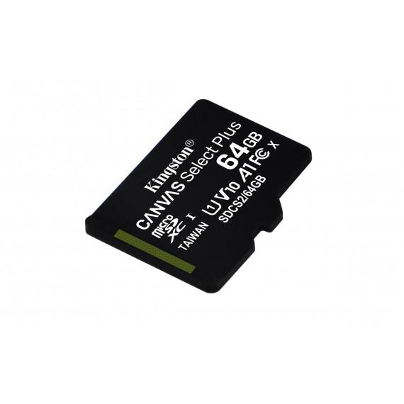 KINGSTON 64GB micSDXC Canvas Select Plus 100R A1 C10 Single Pack w/o ADP