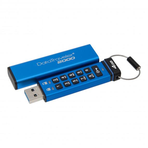 KINGSTON 128Go Keypad USB 3.1 Gen1 AES  128Go Keypad USB 3.1 Gen1 DT2000 256bit AES Hardware Encrypted