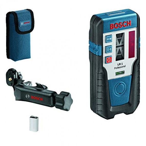 Bosch Professional Cellule de Réception Laser LR1 (Faisceau Rouge, 1Pile 9V, Support, Portée: 0–200m)