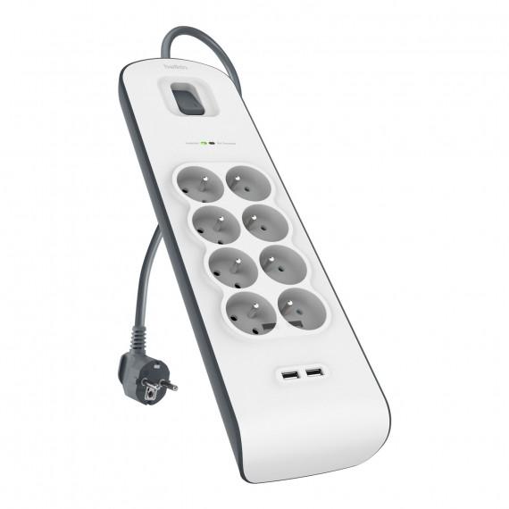 BELKIN multiprise parafoudre (8 prises secteur + 2 prises USB)