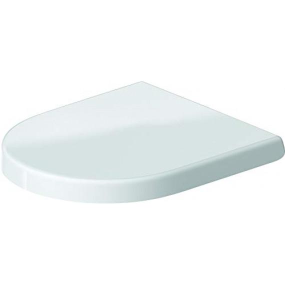 Duravit 0069890000Abattant de WC avec charnières en acier inoxydable Blanc Fermeture douce