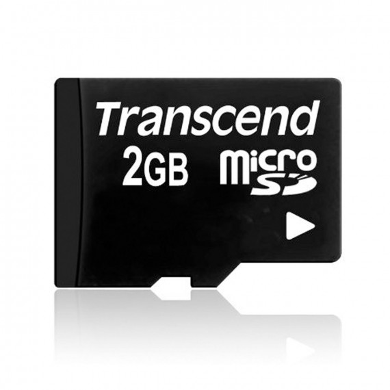 Carte Mémoire Transcend micro Secure Digital Card 2 GB noir, boxed