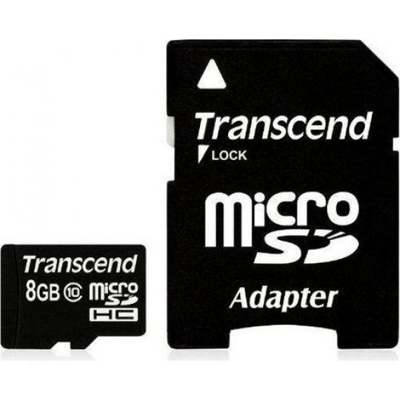 TRANSCEND microSDHC Card 8 GB