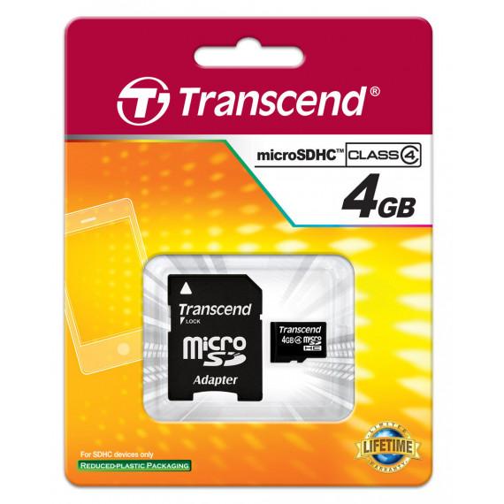 TRANSCEND 4 GB microSDHC Class