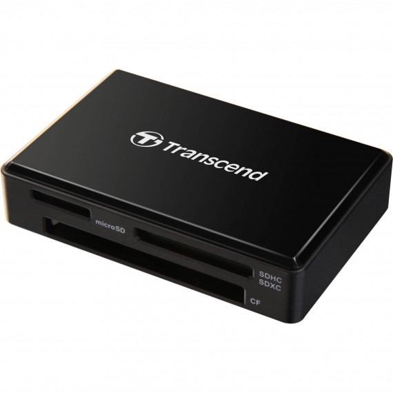 TRANSCEND All-in-1 Memory Card Reader  All-in-1 Multi Memory Card Reader USB 3.0/3.1 Gen 1 Black