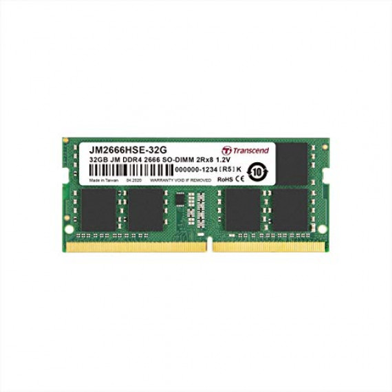 TRANSCEND 32Go JM DDR4 2666Mhz SO-DIMM  32Go JM DDR4 2666Mhz SO-DIMM 2Rx8 2Gx8 CL19 1.2V   -