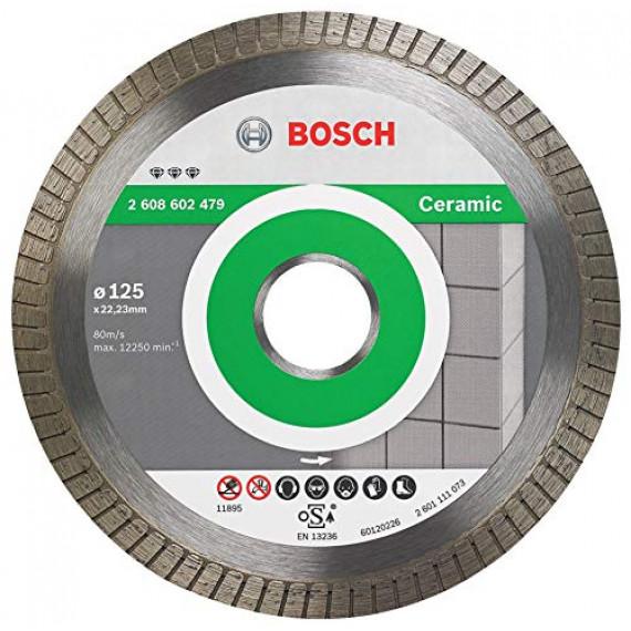Bosch Professional Disque diamanté Best for Ceramic Extra-Clean Turbo (céramique, 125 x 22,23mm, accessoires pour meuleuse angulaire)