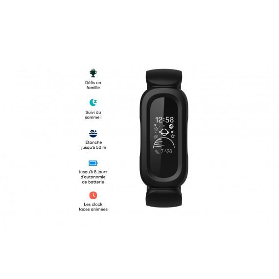 Fitbit Ace 3 noir et rouge sport