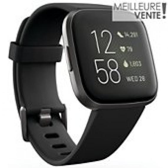 Fitbit Montre connectée  Versa 2 Noir Carbone