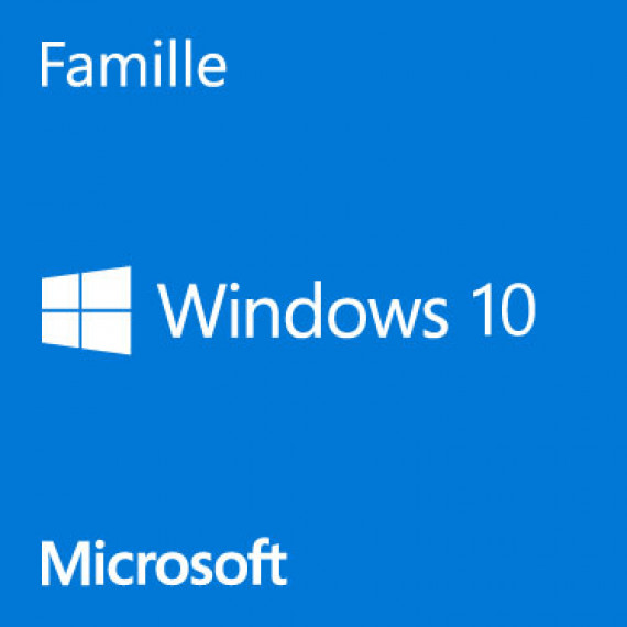 Microsoft Windows 10 Home - Licence - 1 licence - OEM - DVD - 64-bit - français