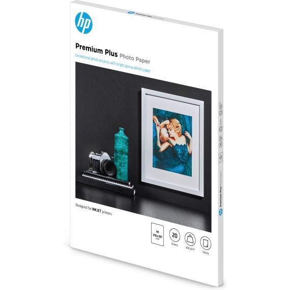 HP Papier photo à finition brillante Premium Plus A4