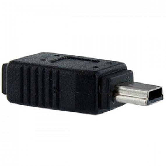 MCL Adaptateur F/M Micro USB vers Mini USB - 1 x Micro Type B Femelle USB - 1 x Mini Type B Mâle USB - Noir