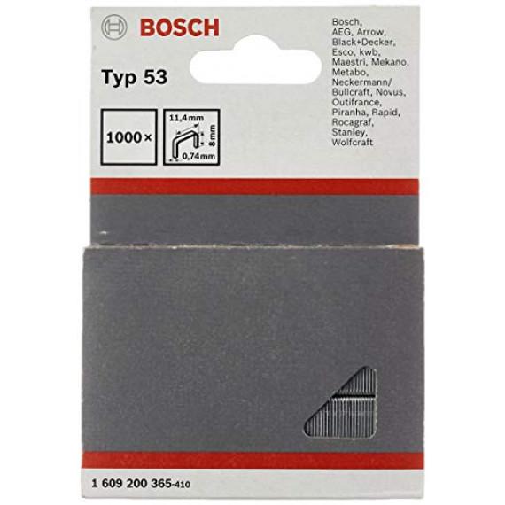 Bosch Professional Bosch 1609200365 Agrafes 8 / 11,4 mm 1000 pièces Type 5