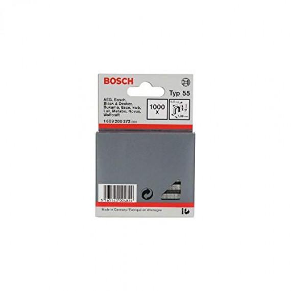 Bosch Professional Agrafe à Dos Étroit de Type 55, 6mm x1.08mm x16mm, Lot de 1000