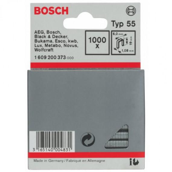 Bosch Professional Bosch 1609200373 Agrafes 19 / 6 mm 1000 pièces