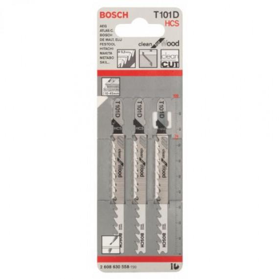 Bosch Professional Bosch 2608630558 Lot de 3 lames pour scie sauteuse T 101 D