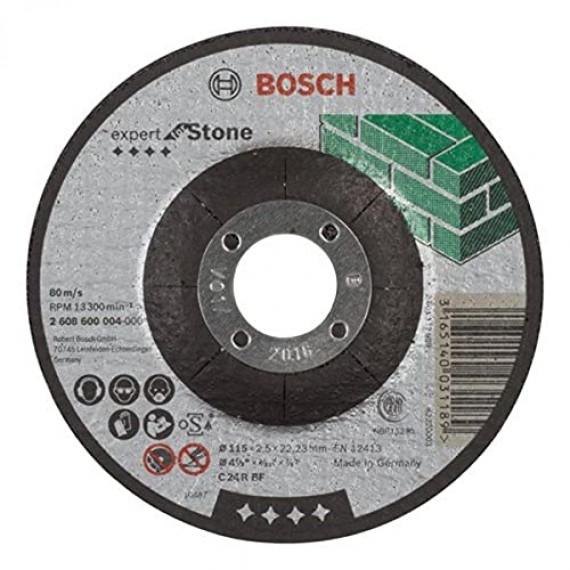 Bosch Professional Bosch 2608600004 Disque à Tronçonner à moyeu déporté expert for stone C 24 R BF 115 mm 2,5 mm
