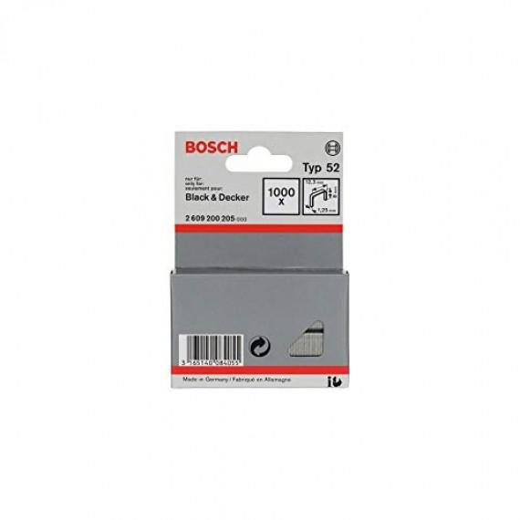 Bosch Professional Bosch 2609200205 Agrafes 8 / 12,3 mm 1000 pièces Type 52