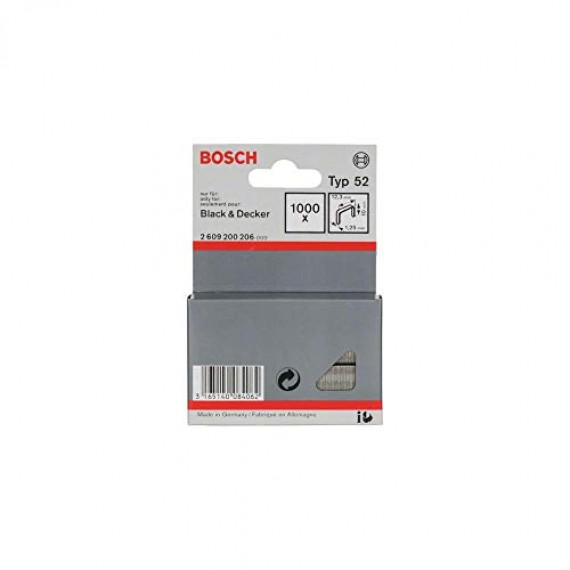 Bosch Professional Bosch 2609200206 Agrafes 10 / 12,3 mm 1000 pièces Type 52