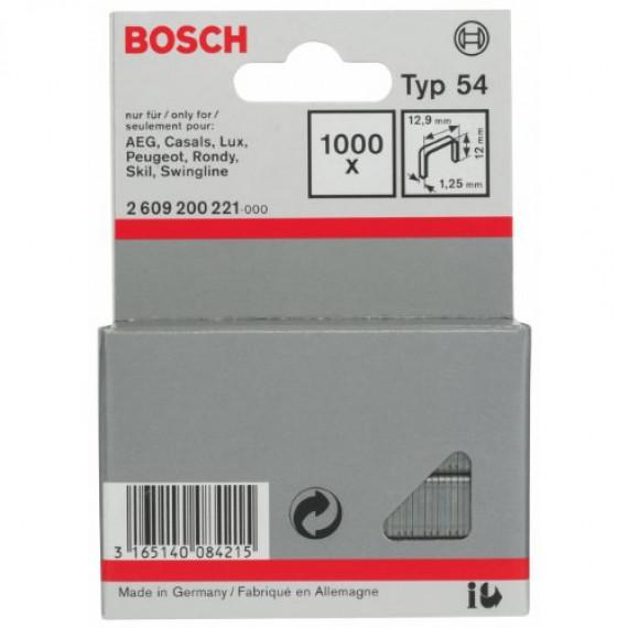 Bosch Professional Agrafe à Fil Plat de Type 54, 12.9mm x 12mm, Lot de 1000