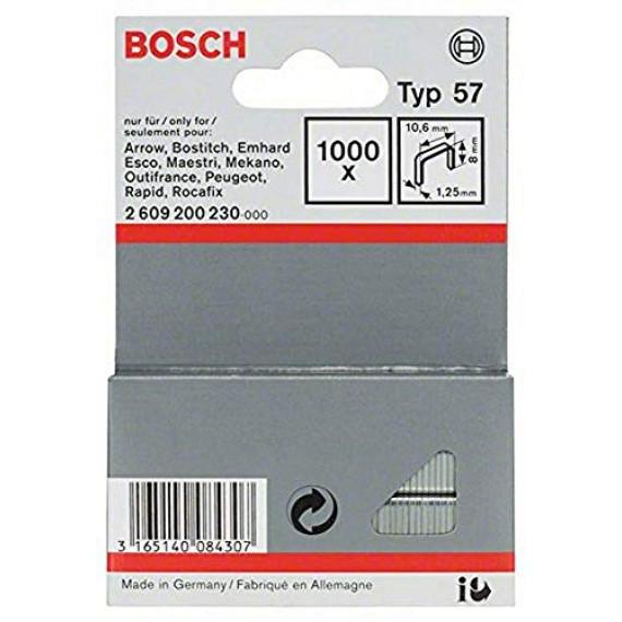 Bosch Professional Bosch 2609200230 Agrafes 8 / 10,6 mm 1000 pièces Type 57