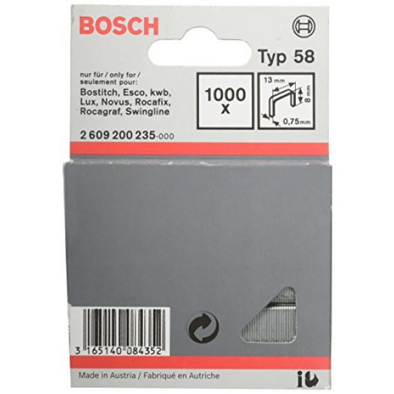 Bosch Professional Agrafe à Fil Fin de Type 58, 13mm x 8mm, Lot de 1000